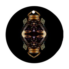 African Goddess Round Ornament (two Sides)