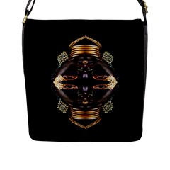 African Goddess Flap Closure Messenger Bag (Large)