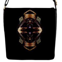 African Goddess Flap Closure Messenger Bag (small)