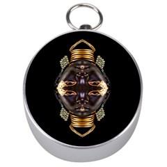 African Goddess Silver Compass