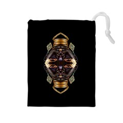 African Goddess Drawstring Pouch (Large)