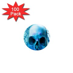 Skull In Water 1  Mini Button Magnet (100 pack)