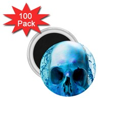 Skull In Water 1.75  Button Magnet (100 pack)