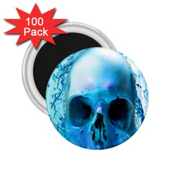Skull In Water 2.25  Button Magnet (100 pack)
