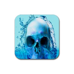 Skull In Water Drink Coasters 4 Pack (square)