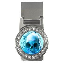 Skull In Water Money Clip (CZ)