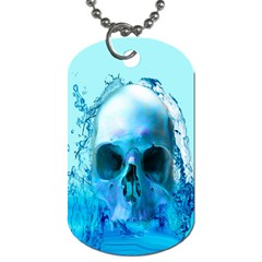 Skull In Water Dog Tag (Two-sided)