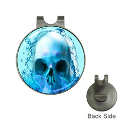 Skull In Water Hat Clip with Golf Ball Marker