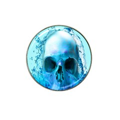Skull In Water Golf Ball Marker 4 Pack (for Hat Clip)