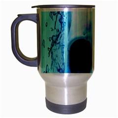 Skull In Water Travel Mug (silver Gray)
