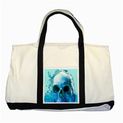 Skull In Water Two Toned Tote Bag