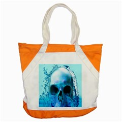 Skull In Water Accent Tote Bag