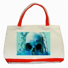Skull In Water Classic Tote Bag (Red)