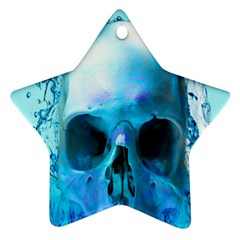 Skull In Water Star Ornament (Two Sides)