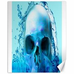 Skull In Water Canvas 16  x 20  (Unframed)