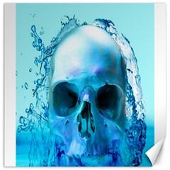 Skull In Water Canvas 20  x 20  (Unframed)