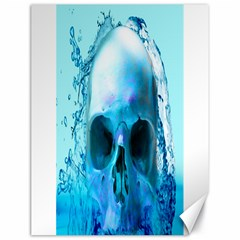 Skull In Water Canvas 18  x 24  (Unframed)