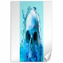 Skull In Water Canvas 20  x 30  (Unframed)