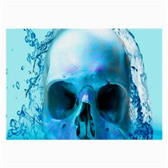 Skull In Water Glasses Cloth (large)