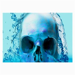 Skull In Water Glasses Cloth (Large, Two Sided)