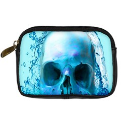 Skull In Water Digital Camera Leather Case