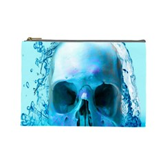 Skull In Water Cosmetic Bag (large)