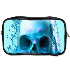 Skull In Water Travel Toiletry Bag (two Sides)