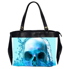 Skull In Water Oversize Office Handbag (two Sides)