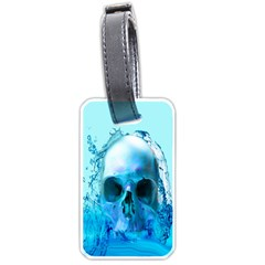 Skull In Water Luggage Tag (Two Sides)