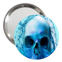 Skull In Water 3  Handbag Mirror