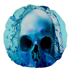 Skull In Water 18  Premium Round Cushion