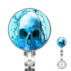 Skull In Water Stainless Steel Nurses Watch