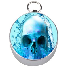 Skull In Water Silver Compass