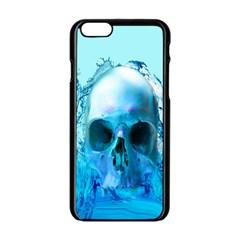 Skull In Water Apple Iphone 6 Black Enamel Case