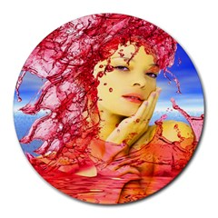 Tears Of Blood 8  Mouse Pad (round)
