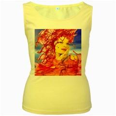 Tears Of Blood Women s Tank Top (Yellow)