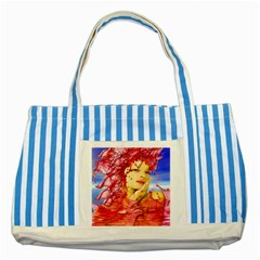 Tears Of Blood Blue Striped Tote Bag