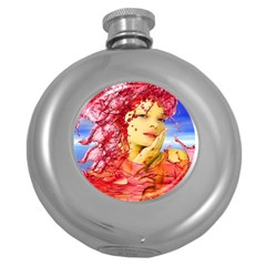 Tears Of Blood Hip Flask (round)