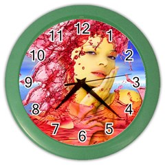 Tears Of Blood Wall Clock (Color)