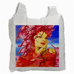 Tears Of Blood White Reusable Bag (two Sides)