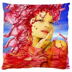 Tears Of Blood Large Cushion Case (Two Sided)
