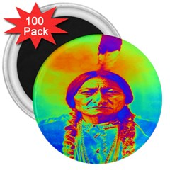 Sitting Bull 3  Button Magnet (100 Pack)