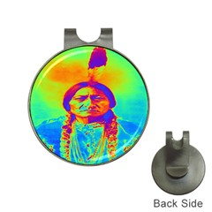 Sitting Bull Hat Clip With Golf Ball Marker