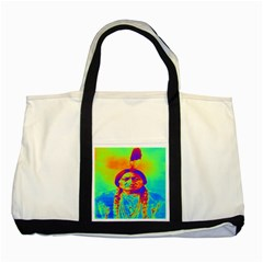Sitting Bull Two Toned Tote Bag