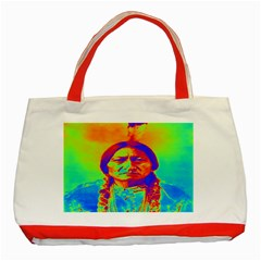 Sitting Bull Classic Tote Bag (Red)