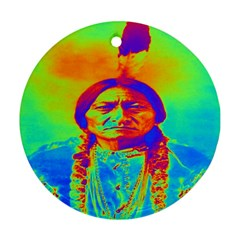 Sitting Bull Round Ornament (two Sides)