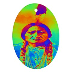 Sitting Bull Oval Ornament (two Sides)