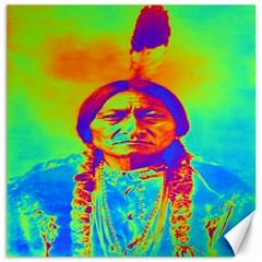 Sitting Bull Canvas 20  x 20  (Unframed)