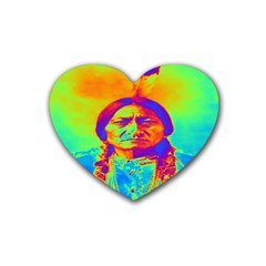 Sitting Bull Drink Coasters 4 Pack (heart)