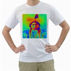 Sitting Bull Men s T-Shirt (White)